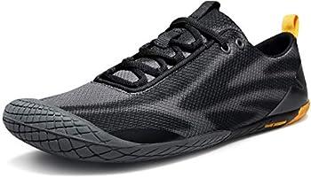 TSLA Men s Trail Running Shoes Lightweight Athletic Zero Drop Barefoot Shoes Non Slip Outdoor Walking Minimalist Shoes Barefoot Shoes Black & Grey 10.5