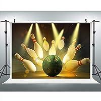 新しいボウリングパーティーの写真の背景9x6FTRecreationalスポーツBackdropPhotoブーススタジオProps348