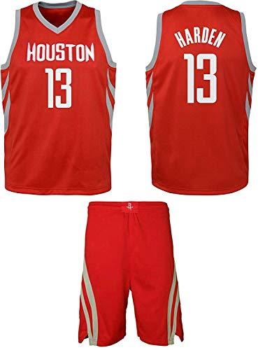Houston Westbrook/Harden Kids Basketball Jersey Shorts Set Youth Sizes Premium Quality Gift Set (YS 6-8 Years, Harden#13)