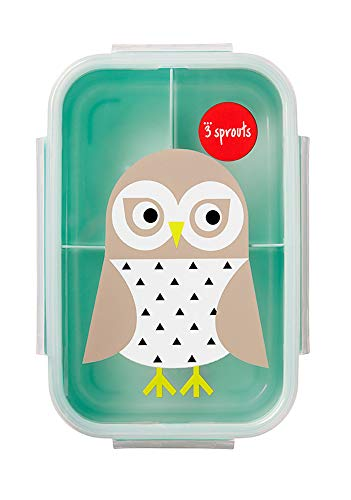 3 Sprouts Lunch Bento Box – Leakproof 3 Compartment...