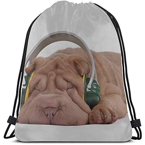 Bouia Grappige dierenhuisdier Shapi hond trekkoord reistas polyester herbruikbare trekkoord tassen gymtas voor gym reizen