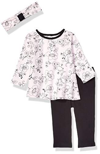 Little Me - Conjunto de túnica para bebé, Negro, 6 Meses