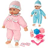 Dolly Dolly Sweet Sounds Lil 'Baby Talking Girl Doll & Accessori - Adatto per età 2 Anni +