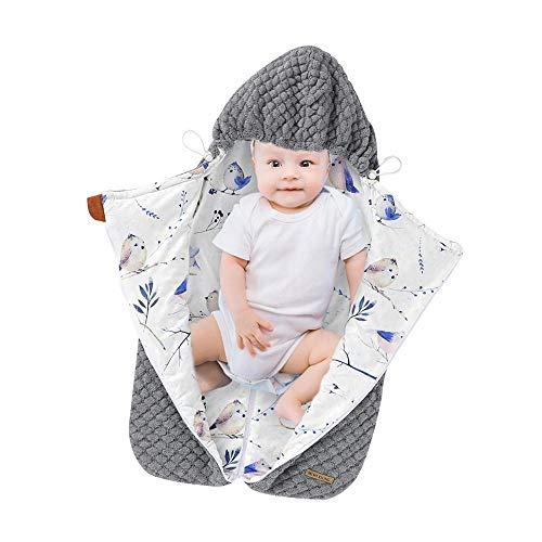 Saco De Dormir Bebé Todo El Año Sacos De Dormir Cálidos De Invierno Para Bebé, Saco Para Cochecito De Otoño, Con Cremallera, Con Capucha, Para Bebés Recién Nacidos, Envoltorios Envolventes, Saco De