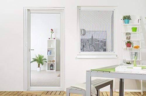 hecht international 100690201-VH Fliegengitter Fenster MASTER SLIM 150x160 cm in Weiß, 150 x 160 cm