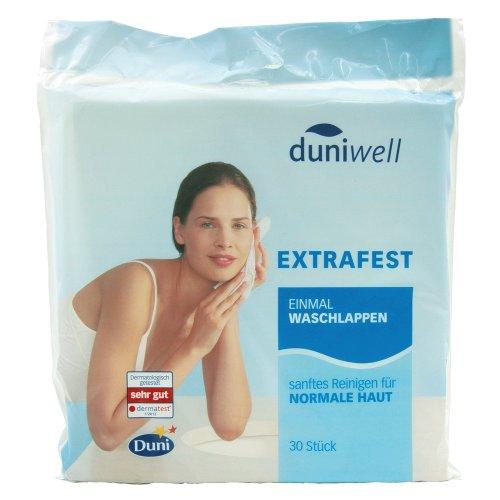 Duniwell Sanft Reinigende Einmalwaschlappen, 6lagig, 5er Pack (5 x 30 Stück)
