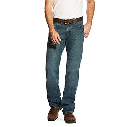ARIAT Men's Rebar M4 Slim Fit Durastretch Straight Leg Jean, Carbine, 35W x 34L