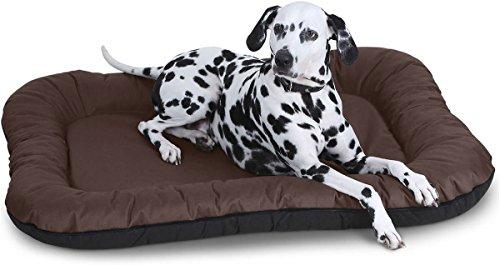 Knuffelwuff Hundebett Lucky In und Outdoor Hundekissen Hundesofa Hundekörbchen Hundekorb, Übergröße XXXL Braun