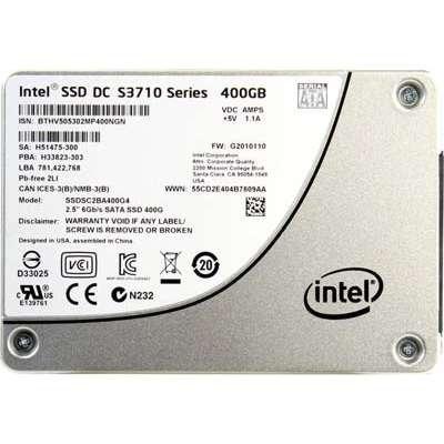 Intel SSDSC2BA400G401 400GB DC S3710 OEM Series 2.5' OEM SATA 6Gb/s SSD 7mm