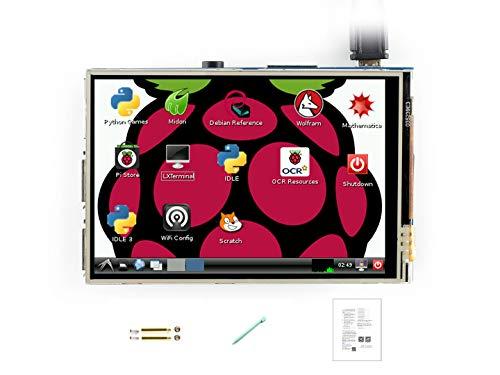 Pantalla táctil Waveshare TFT LCD de 3,5 pulgadas y resolución de 320 x 480 para Raspberry Pi Rpi, Raspberry Pi 2 modelo B, Raspberry Pi 3 modelo B 3.5inch (A)