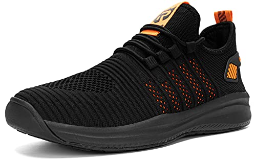 LARNMERN PLUS Sneakers Uomo Donna Trekking Impermeabile Antiscivolo Scarpe Arancione 42