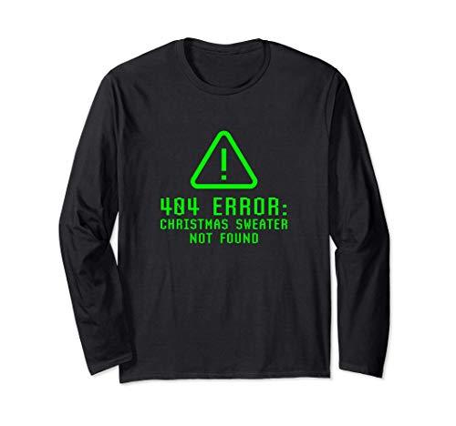 Funny Error 404 Pull De Noël Introuvable Geek Nerd Ugly Manche Longue