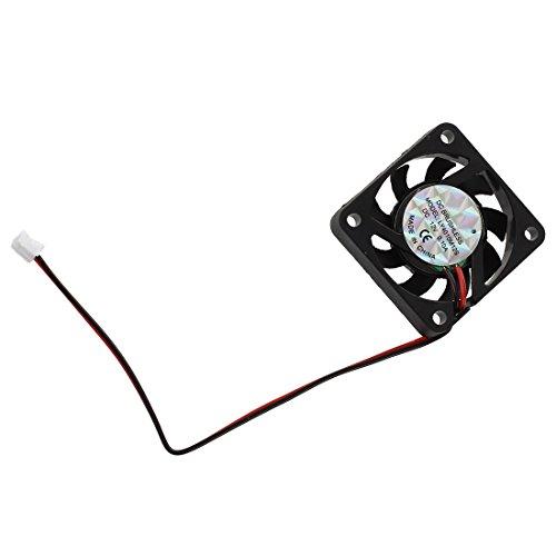 Timagebreze 3 Pcs 4cm 2 Pin CC Ventilador de refrigeracion de CPU Ventilador sin Cepillo 12VDC 0.10A Negro
