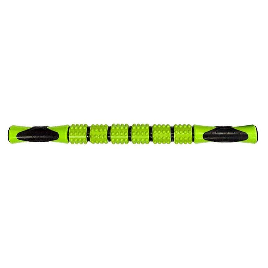解体するとして忠実なマッサージスティック 筋弛緩ローラー 腰痛 リガーポイント 筋膜 マッサージャー ト ヨガ フィットネススポーツフェイシアスティック持ち運び便利 痛を改善 筋筋膜リリース(緑色)