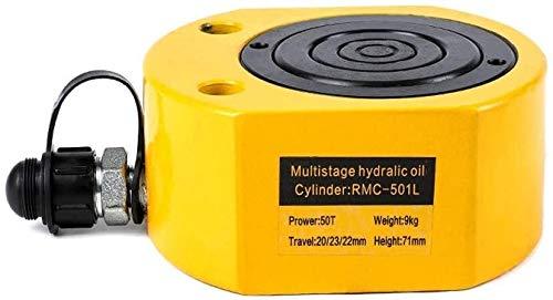 Elektro-Hydraulik-Wagenheber Leistungsstarke Hydraulik Mini tragbare Ultra-Thin Hydraulik-Zylinder Separate Multi-Section Hydraulic Jack Hebewerkzeug gewidmet, for Gabelstapler / Hydraulic Lift, 301L