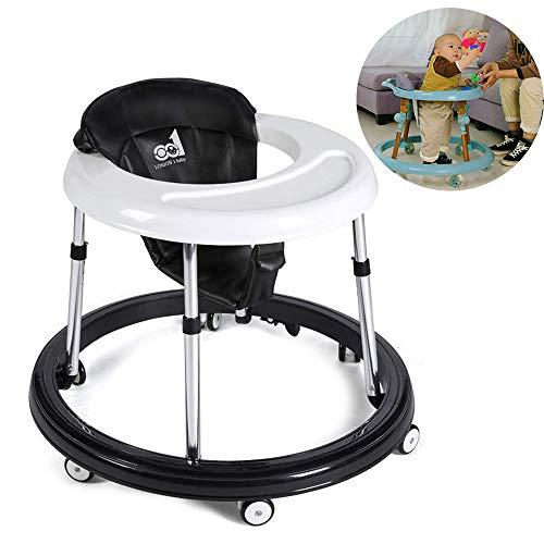 Fascol Andador Beb/és Ajuste de Altura 45-46.5-48-49.5-51 cm Andador para Beb/és Plegable con un Freno Caqui Caqui