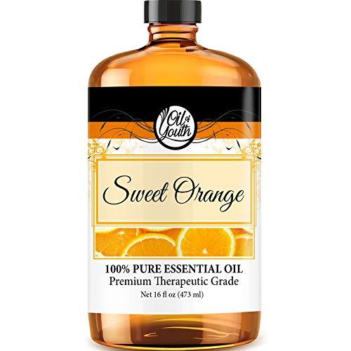 16oz Bulk Sweet Orange Essential Oil – Therapeutic Grade – Pure & Natural Sweet Orange Oil