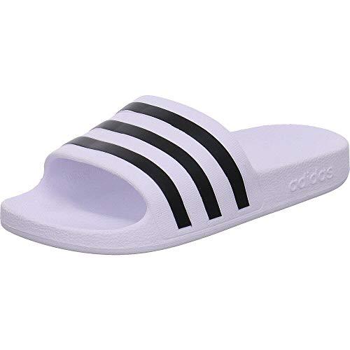 adidas Adilette Aqua, Scarpe da Spiaggia e Piscina Unisex Adulto, Bianco (Ftwr White/Core Black/Ftwr White Ftwr White/Core Black/Ftwr White), 43 EU