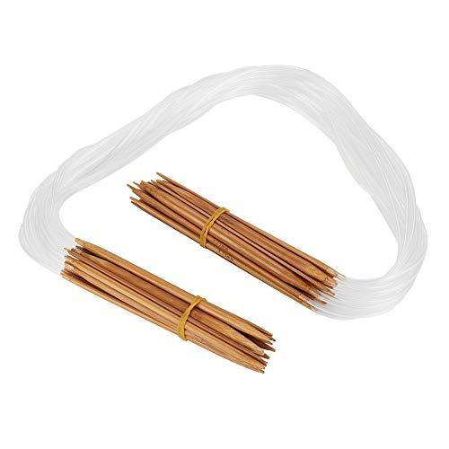 VINGVO Cirkulär sticksnål, trävirkad nål hållbar trästickning lätt design för gör-det-själv handgjord för broderingsälskare