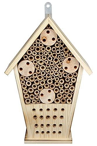 CULT at home Bienenhotel - Wildbienenhotel - Bienenhaus - zum Aufhängen 31 cm