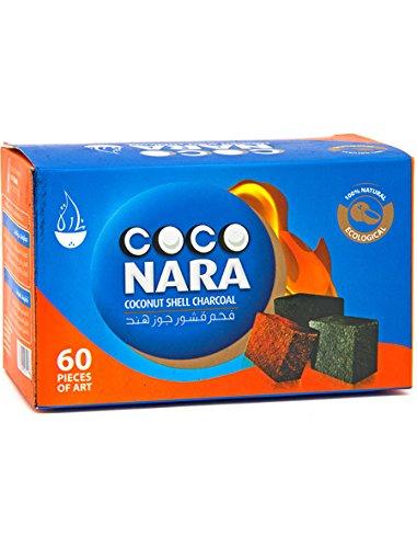 Coco Nara Hookah Shisha Natural Charcoals 60 Pieces