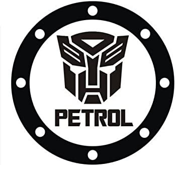Limited Edition Petrol Sticker with Transformers Logo- for car Fuel LID