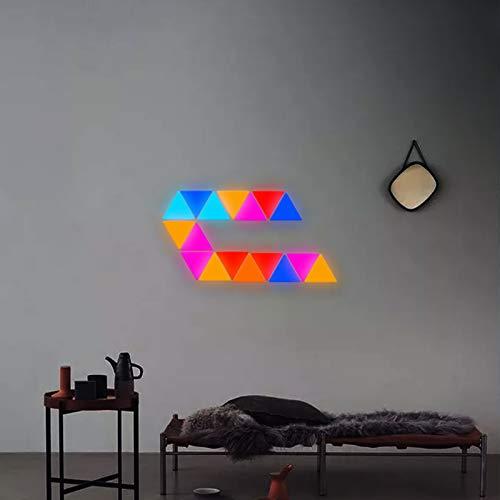 JAKROO Smart LED Modular Panels Mit Musik Synchronisieren, Quanten Nachtlicht Bar Gaming Lichter Spleißen DIY, für Die Innenbeleuchtung, 9 pcs