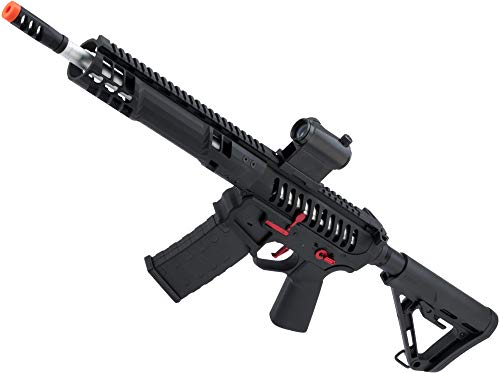 Evike EMG F-1 Firearms SBR Airsoft AEG Training Rifle w/eSE Electronic Trigger (Model: Black/Red/RS-3/350 FPS)