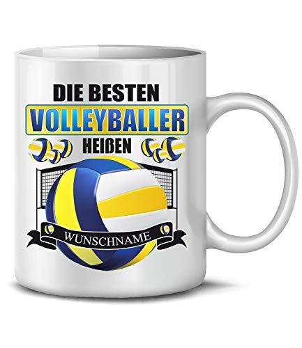 Golebros Die beesten Volleyballer heißen Wunschname 6316 Geschenke Geschenkideen Geburtstag Männer Mädchen Tasse Becher Kaffeetasse Weiss