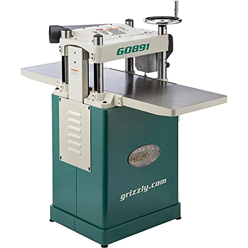 """Grizzly Industrial G0891-15"""" 3 HP Fixed-Table Planer w/Helical Cutterhead"""