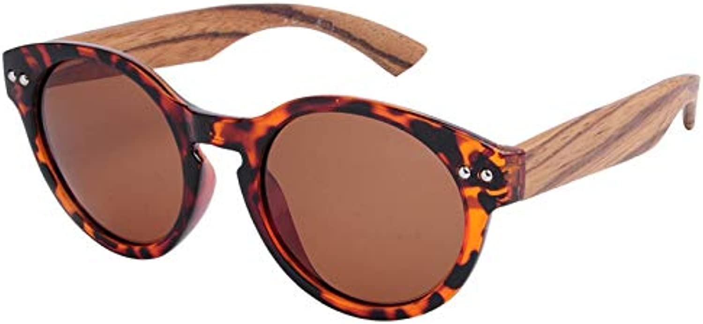DABAOYA Luxury Round Bamboo Sunglasses Women Wooden Sunglasses Men Polarized Uv400 Brand Sunglasses