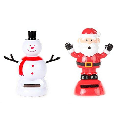 Home-X Solar Dancing Santa and Snowman