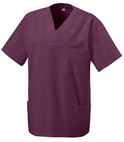 Unbekannt Schlupfkasack Kasack Schlupfjacke Schlupfhemd für Medizin und Pflege OP-Kleidung Bordeaux Gr. XL