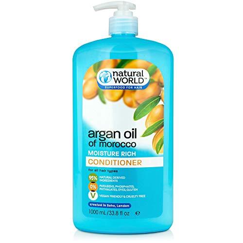 Natural World Moroccan Argan Oil Moisture Rich Condizionatore - 100 ml