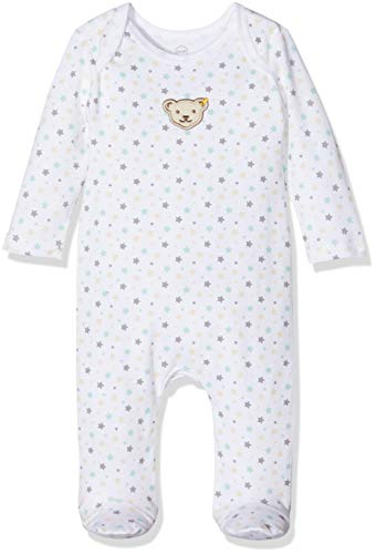 Steiff Baby-Unisex L001912514 Strampler, Weiß (Bright White 1000), 50