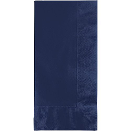 Creative Converting 50 Pack 50 gorgeous NAVY BLUE Dinner Napkins for Wedding, Party, Bridal or Baby Shower, Disposable Bulk Supply Quality Product