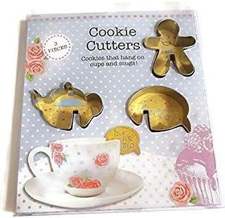 3 cortadores de galletas, galletas para colgar en tazas y tazas. | Haz tu tetera, burbuja de voz o hombre de jengibre | ¡galletas novedosas para amar! |