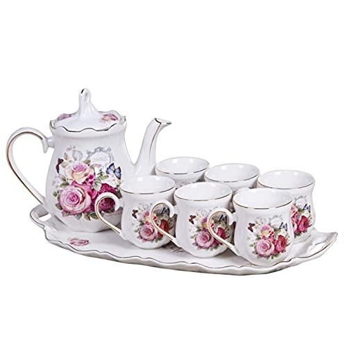 Tea Set For Adults Porcelain Coffee Tea Pot Tea Set With Teapot Tea Cup Sets Tea Sets For Afternoon Tea Wedding Gift