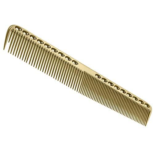 Professionelle Kämme Luftfahrt Luftfahrt Aluminium Metallschneiden Kamm Haar Friseur Friseure Salon Kamm (Color : Gold, Size : L)