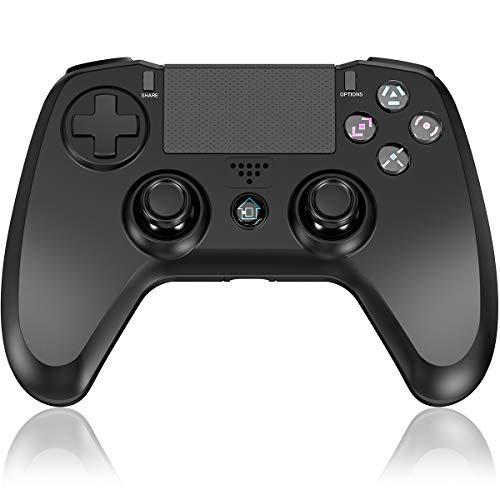 Elyco Wireless Controller für PS-4, Bluetooth Kabelloser Gamepad Joypad Joystick Mini-LED Laterne