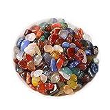 MTYQE Encantos de Cuentas de Piedra Natural Cuentas Brillantes de Piedra Natural Cuentas de Piedras Preciosas Irregulares Cuentas de Piedra Natural Multicolor para Hacer Joyas Collar Pulsera
