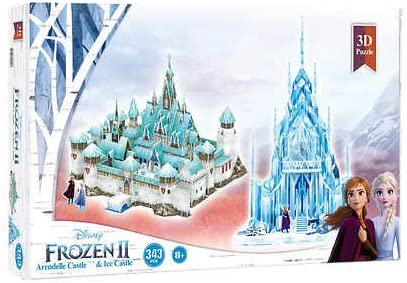 2021 spring and summer new 4D Cityscape Disney Frozen 2 Arendelle Ice Palace Puzzle and 3D Ranking TOP17