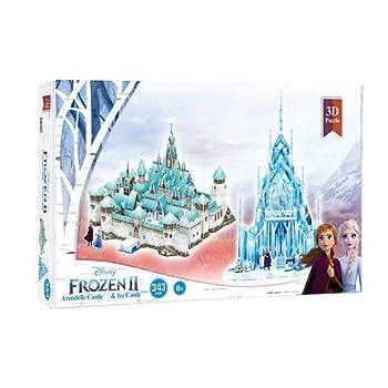 4D Cityscape Disney Frozen 2 Arendelle and Ice Palace 3D Puzzle
