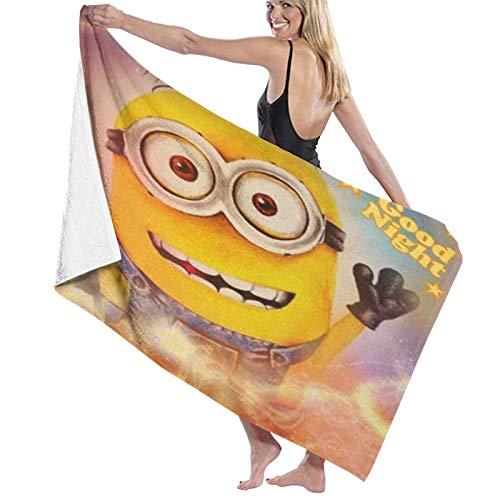 Minions Toalla de playa de microfibra grande rectangular toalla de baño de secado rápido portátil toalla de viaje ultra absorbente deportes viajes