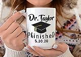 Taza de café PHD, regalo de doctor, taza de PHD, regalo para doctor graduado, 11 onzas