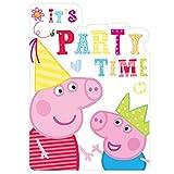 Vasara iones de cumpleaños Peppa Pig (pack de 6 uds.)