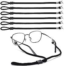 COLIBROX 6PCS Premium Nylon Eyeglass Straps, Adjustable Eyewear Retainers, Anti-slip Eyeglass Chains Lanyard, Sport Sunglass Retainer Holder Strap for Men and Women's