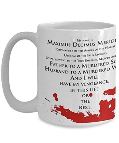 Gladiator My Name is Maximus Decimus Meridius. Taza de café con cita...