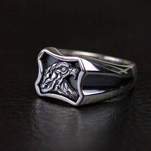 XINYIU Ring Sterling-Silber 925 Adler Hochformat thailändisches Silber