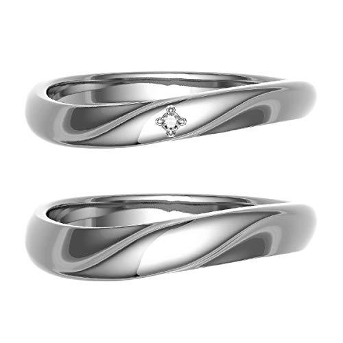 [ココカル]cococaru ペアリング 結婚指輪 シルバー 2本セット マリッジリング 日本製 (レディースサイズ7号 メンズサイズ8号)